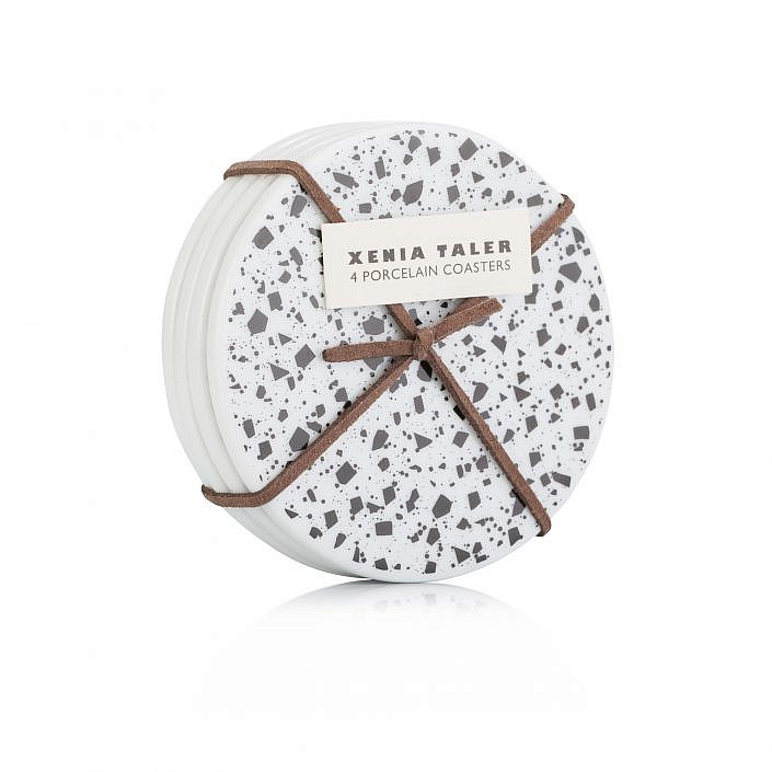 product photogrpaphy e-commerice xenia taller coasters on white background
